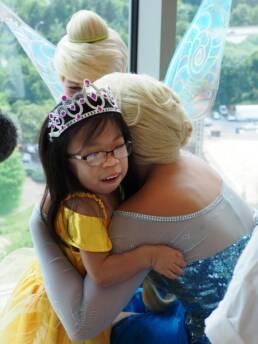 Hugging Elsa