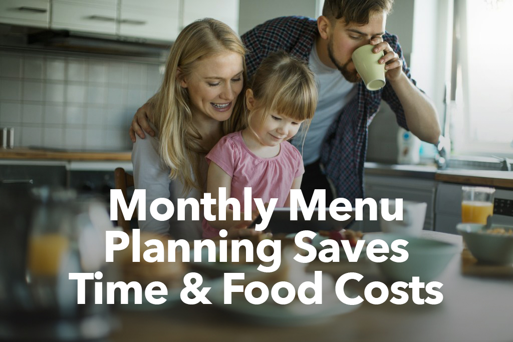 monthly menu planning saves time 1
