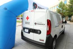 New Bio-Med Vehicle with American Red Cross and Primerica Logo displayed