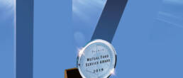 The number 17 behind an image of the Dalbar 2019 Mutual Fund Service Award