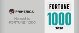Graphic of Fortune 1000 and Primerica logos